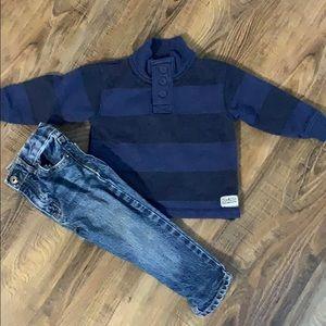 OshKosh B'Gosh 3 Button Sweatshirt Outfit